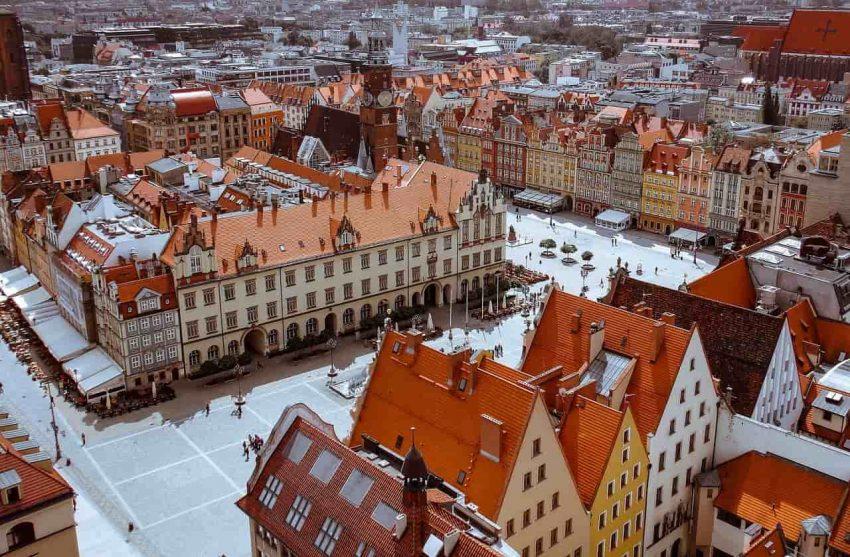 Stare miasto - Wrocław z lotu ptaka