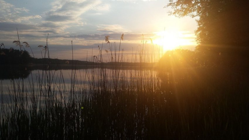 Zachód słońca na Mazurach